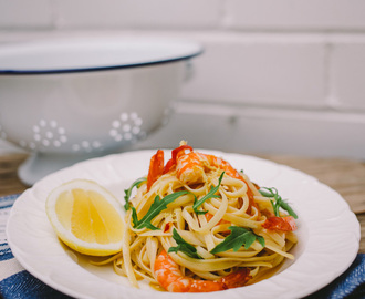 Zesty Lemon & Garlic Prawn Linguine