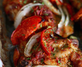 Oven baked peppered chicken