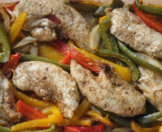 Easy oven chicken fajitas student recipe