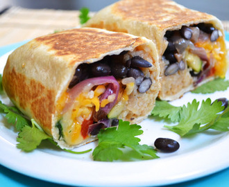 roasted vegetable burritos