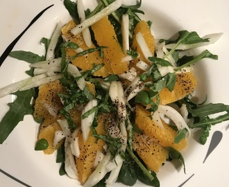 Rucola-Fenchel Salat mit Orange