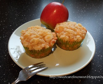 Appel crumble cupcakes