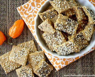 Raw Vegan Habanero Pepper Crackers