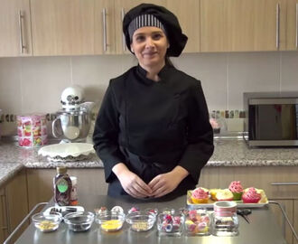 Curso en video #16 cupcakes: decoración comestible