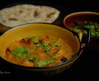 Paneer (Cottage cheese) in coconut curry