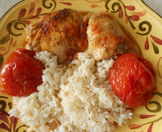 Herb Roasted Chicken with Summer Tomatoes