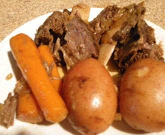 Short Rib Dinner, Crock Pot Cooking