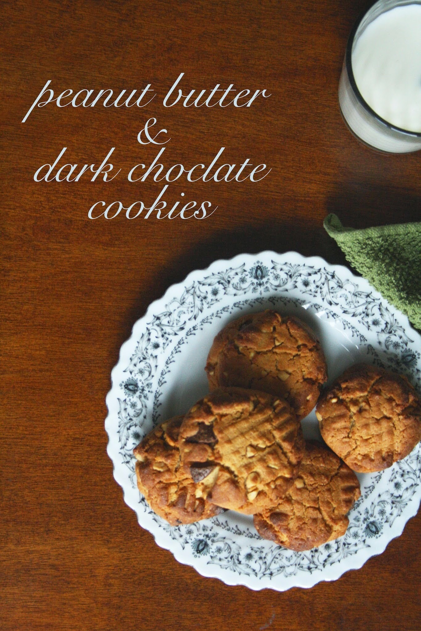 peanut butter & dark chocolate cookies.