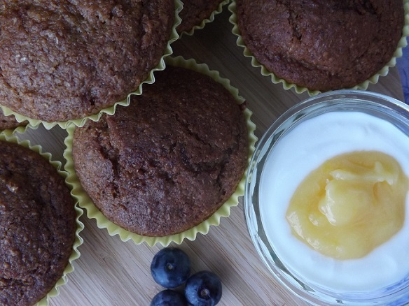 Wholemeal Lemon Yogurt Muffins