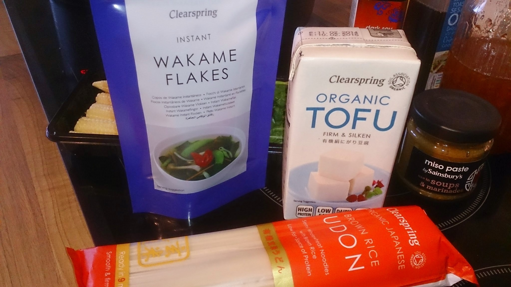 Recipe for Wakame and Miso Udon Noodle Soup with Clearspring Organic