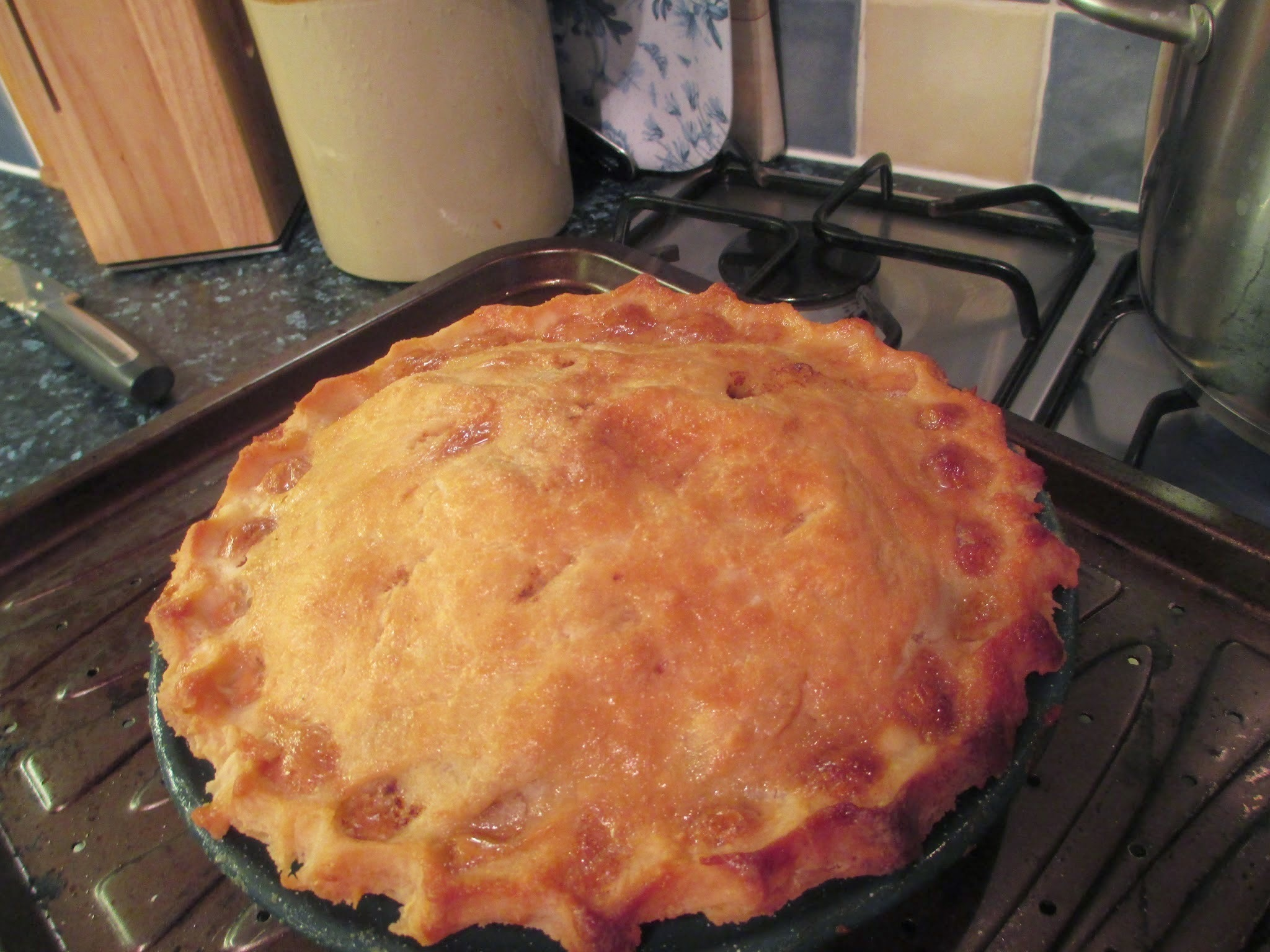 Gluten free mince and potato pie