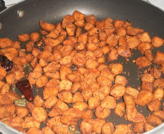 Soya Chunks Fry(Meal Maker Recipe)
