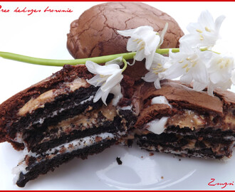 Oreo kekszes brownie