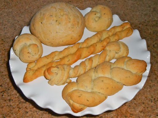 Seasonal Herb Focaccia ~ Dinner Rolls, Bread Sticks, Petite Loaf Shapes