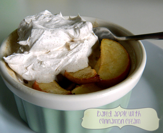 Zimt küsst Apfel: Apples with Cinnamon Cream