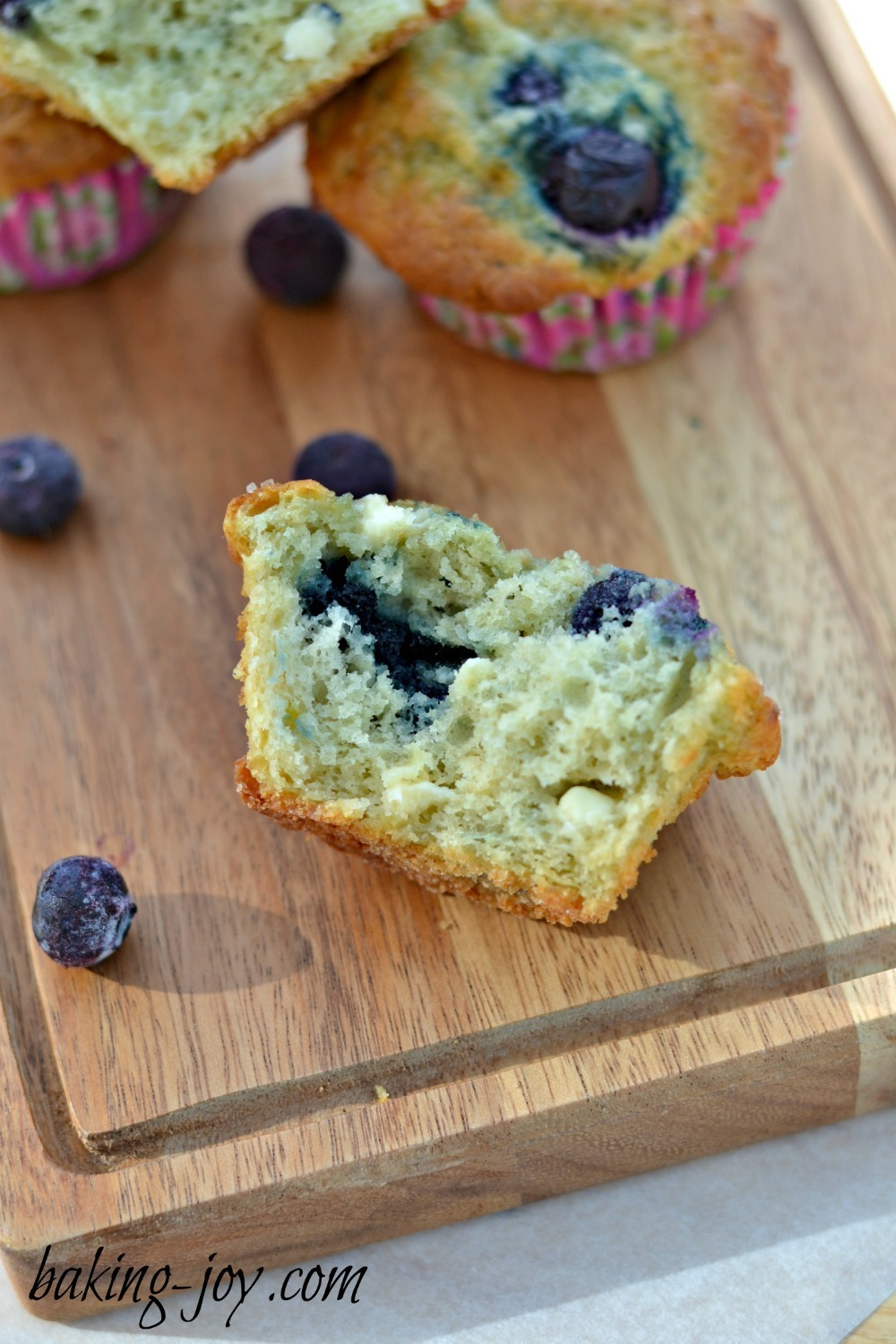 Lemon, White Chocolate and Blueberry Muffins