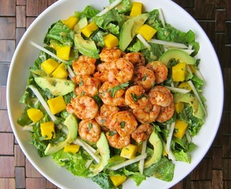 Dining with the Doc: Tropical Shrimp Salad with Honey Chipotle Dressing