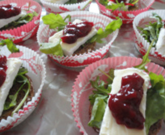 Kerst 2015: Cranberry compote op brie