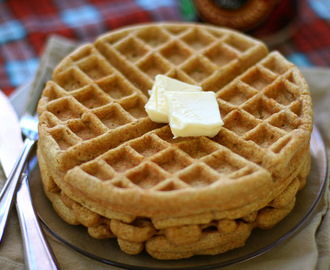 Sprouted Spelt and Pumpkin Spice Waffles