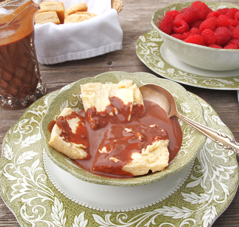 Easy Cream Biscuits and Chocolate Gravy