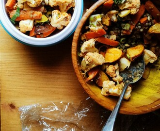 Packed Lunch Idea: Roasted Roots and LentilsPacked lunches cause...