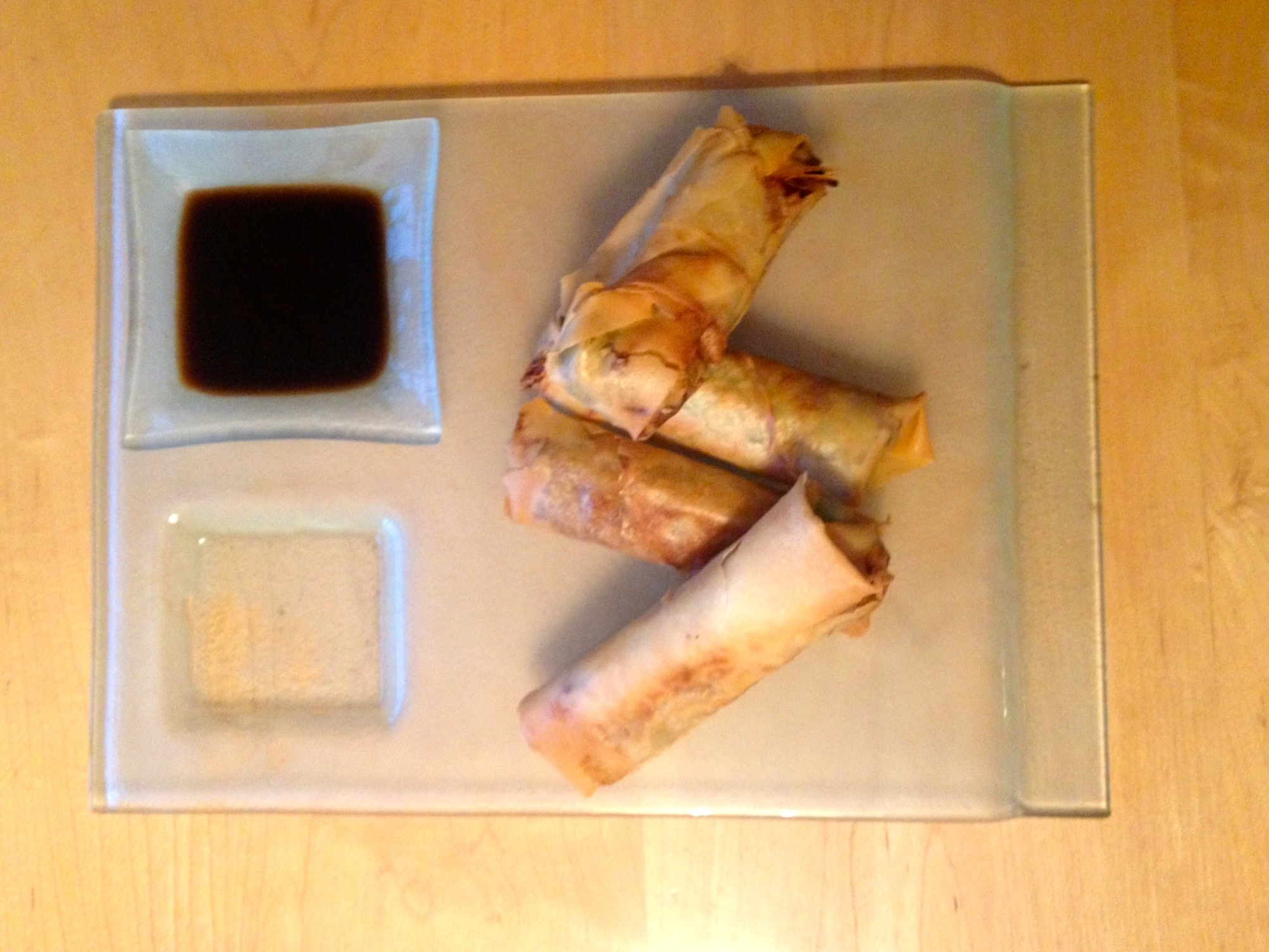Chinese duck spring rolls