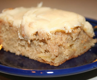 Apple Spice Cake (with Maple Cream Cheese Frosting)