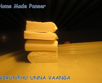 HOME MADE PANEER - FIRST ATTEMPT