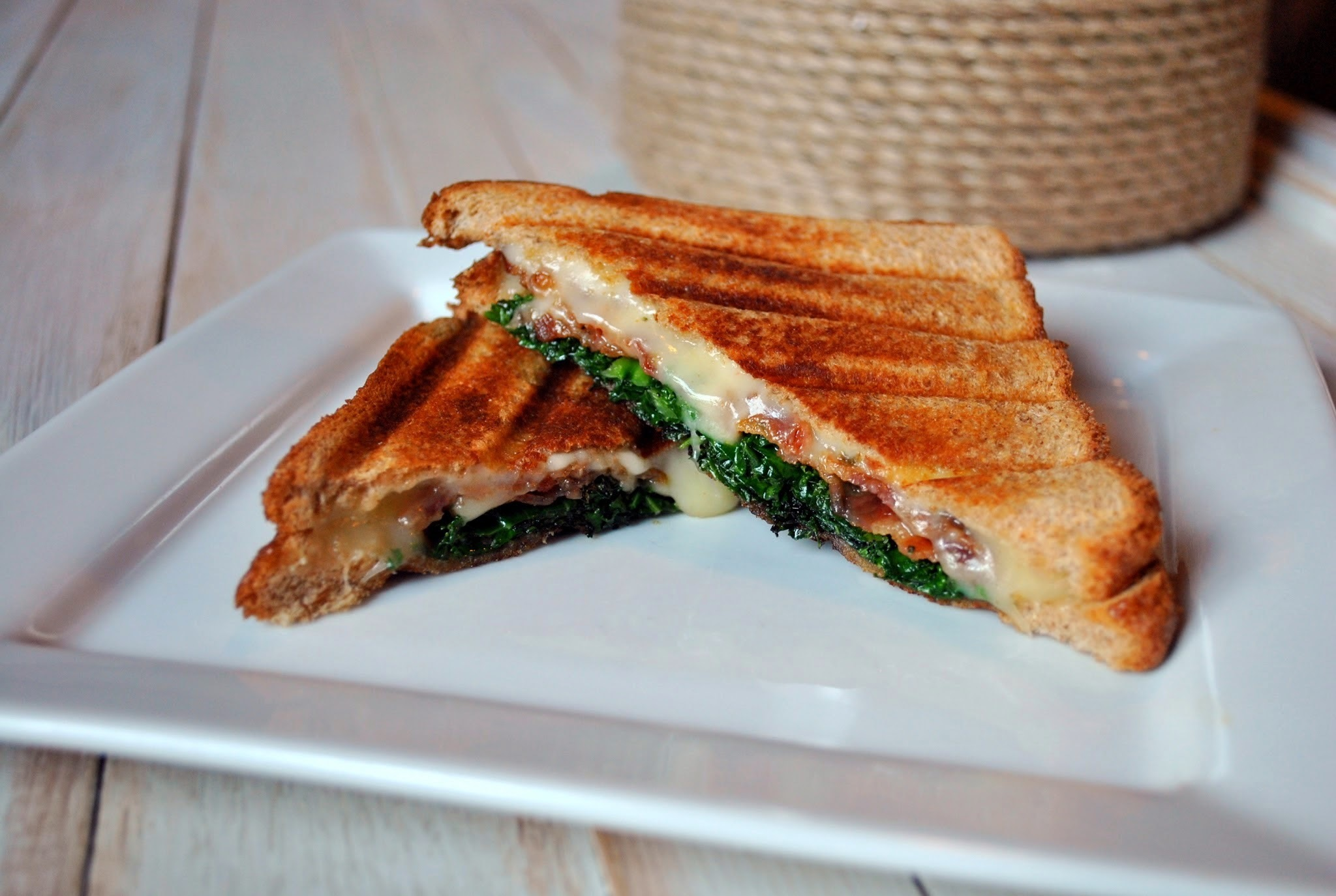Bacon, Kale & Pepper Jack Cheese Panini