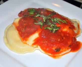 Day 13: Pierogies with Tomato Sauce and Basil (30 Days of Vegan Recipes)