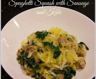 Spaghetti Squash with Sausage and Kale