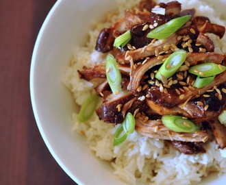Recipe: Slow-cooker Sesame & Honey Shredded Chicken
