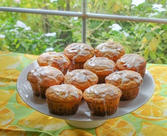 White Chocolate Lemon Muffins #MuffinMonday