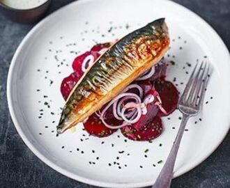 Chargrilled mackerel with sweet & sour beetroot | Recipe | Mackerel recipes, Bistro food, Bbc good food recipes