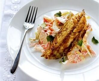 Spicy grilled mackerel with fennel coleslaw recipe | delicious. magazine | Recipe | Grilled mackerel, Coleslaw recipe, Recipes