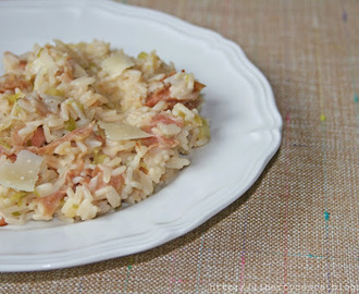 Risotto porri e speak / Rice with leeks and speck