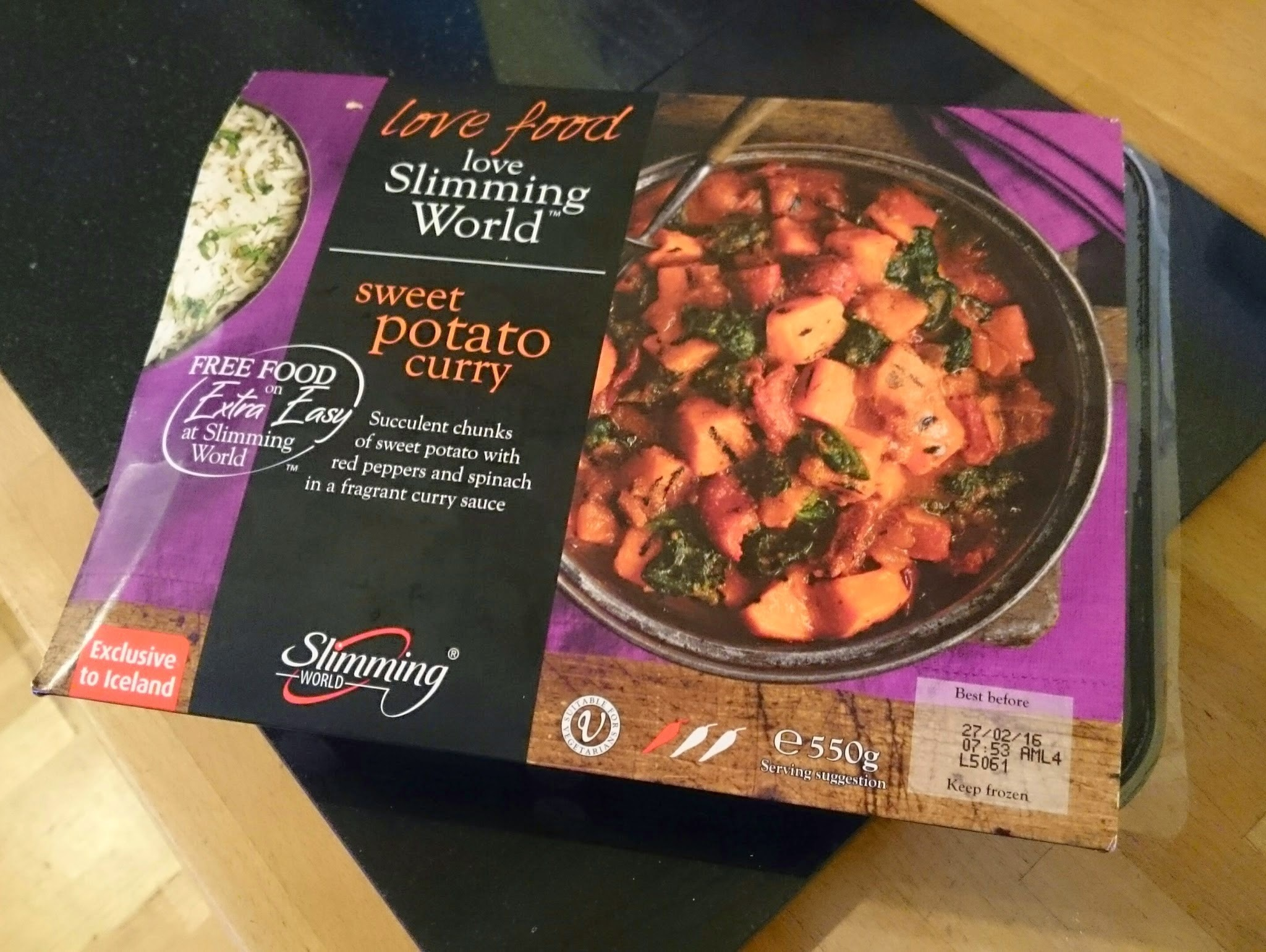 REVIEW! New Slimming World Ready Meals from Iceland - Sweet Potato Curry