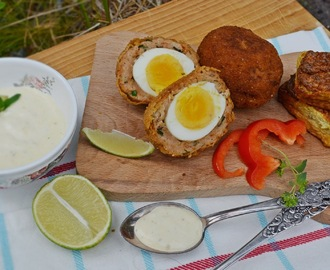 Scotch egg és karfiol puffancs - paleo