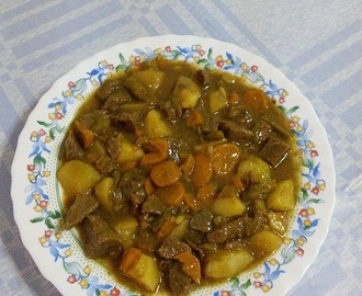 Meat Stew with Potatoes and Carrots