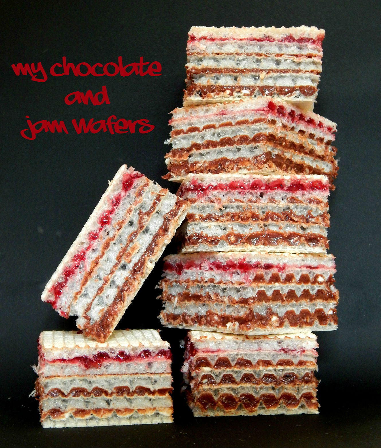 What's Cooking – Chocolate and Jam Wafers