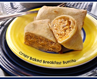 Crispy Baked Breakfast Burritos