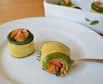 Grilled Zucchini Rolls with Chicken and Sage