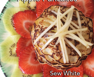 Apple pancakes with kiwi, strawberries and pears – Mother's Day breakfast