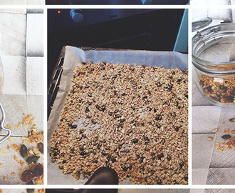 Make-it-Yourself: Granola met Havermout, Noten & Gedroogd Fruit