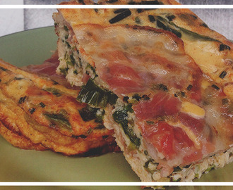 Come and get it Bae! ♫ Fritatta met Prei & Bacon