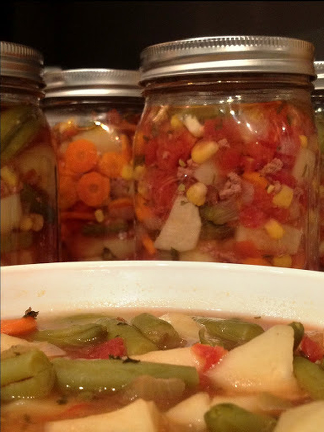 Vegetable Beef Soup Recipe for Canning