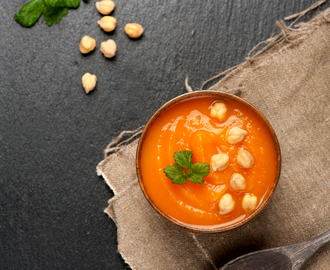 Carrot, Sweet Potato & Chickpea Soup