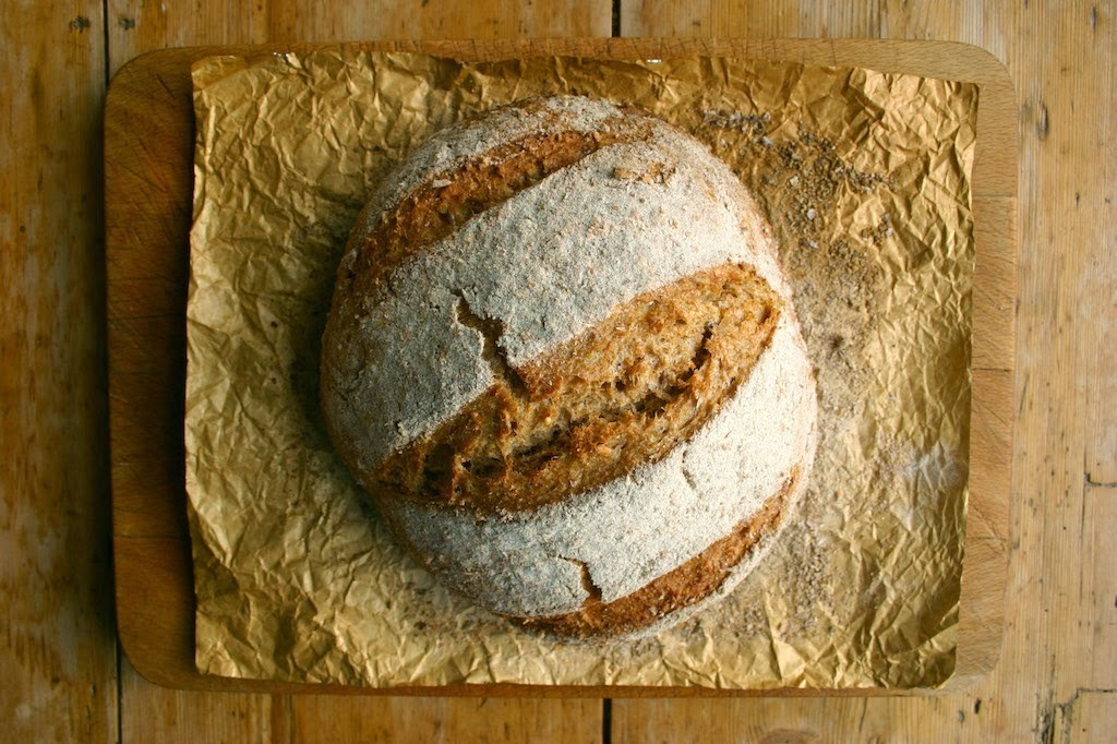 a review of books - plus a wholemeal loaf with dark beer and honey