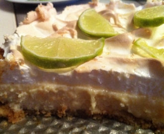 Key lime pie med maräng
