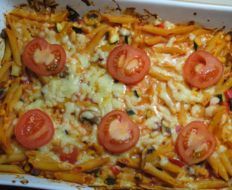 Super vegetarian pasta bake recipe for students